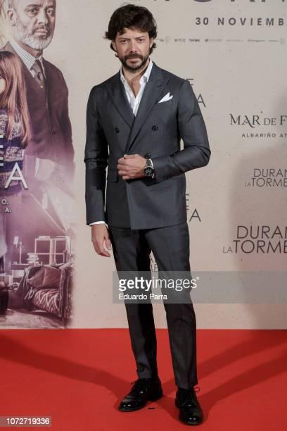 Actor Alvaro Morte attends the 'Durante la tormenta' photocall at Suecia hotel on November 26 2018 in Madrid Spain