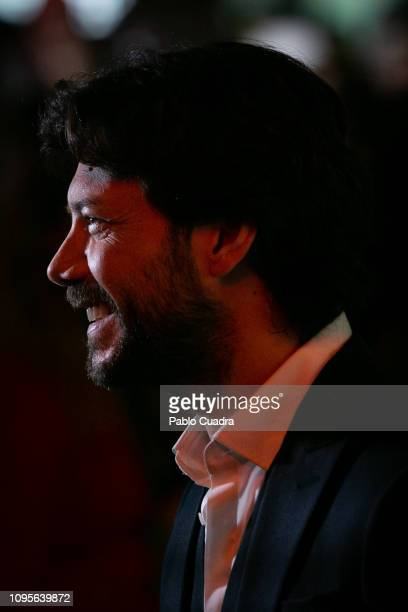 Actor Alvaro Morte attends the 'El Embarcadero' premiere at Callao Cinema on January 17 2019 in Madrid Spain