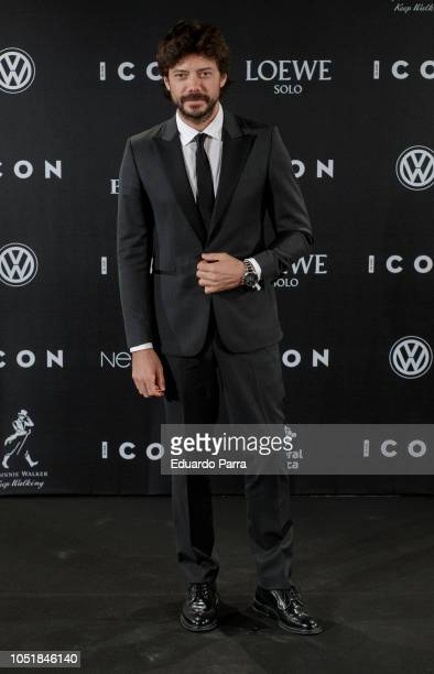 Actor Alvaro Morte attends the 'Icon Awards 2018' photocall at Real Tapestry Factory on October 10 2018 in Madrid Spain