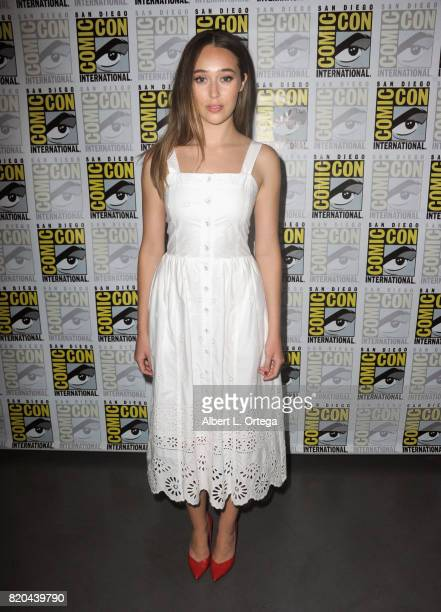 Actor Alycia DebnamCarey attends ComicCon International 2017 AMC's 'Fear The Walking Dead' Panel at San Diego Convention Center on July 21 2017 in...