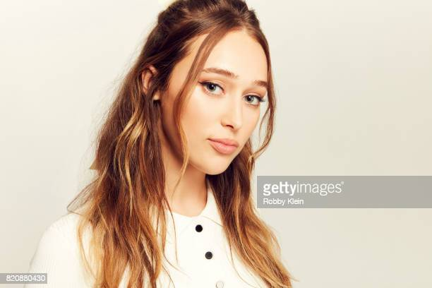 Actor Alycia DebnamCarey from AMC's Fear of the Walking Dead poses for a portrait during ComicCon 2017 at Hard Rock Hotel San Diego on July 20 2017...