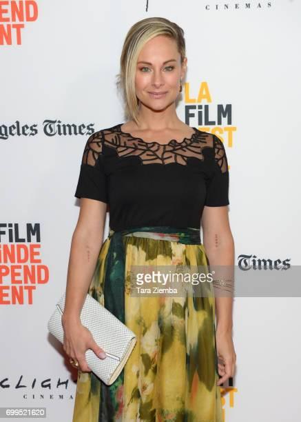 "Actor Alyshia Ochse attends the screening of ""Desolation"" during the 2017 Los Angeles Film Festival at Arclight Cinemas Culver City on June 21, 2017..."
