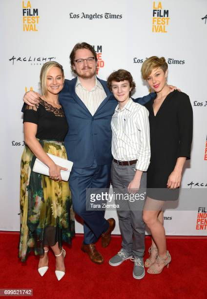 """Actor Alyshia Ochse, director Sam Patton, actors Toby Nichols and Jaimi Paige attend the screening of """"Desolation"""" during the 2017 Los Angeles Film..."""