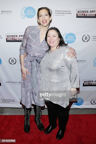 Actor Alysia Reiner and CoFounder of the Athena Film Festival Melissa Silverstein attend the 2017 Athena Film Festival Awards Ceremony at Barnard...