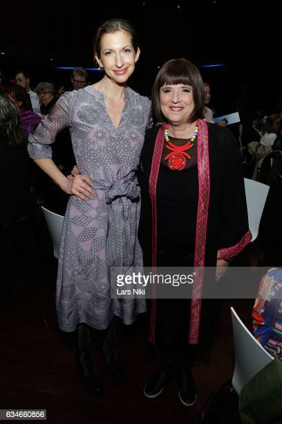 Actor Alysia Reiner and Women's Activist and Playwright Eve Ensler attend the 2017 Athena Film Festival Awards Ceremony at Barnard College on...