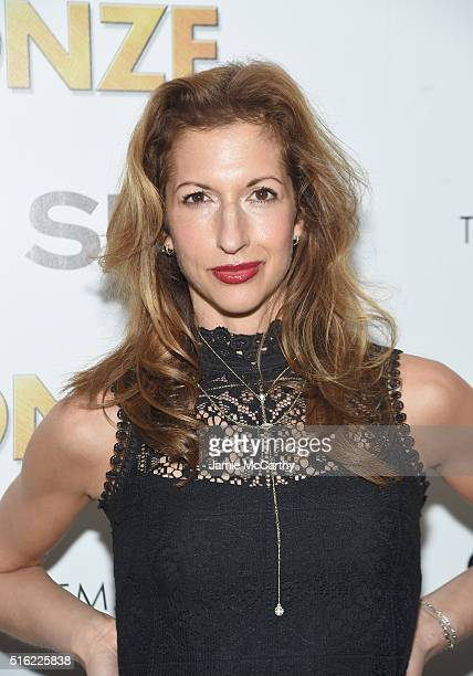 Actor Alysia Reiner attends a screening of Sony Pictures Classics' The Bronze hosted by Cinema Society SELF at Metrograph on March 17 2016 in New...