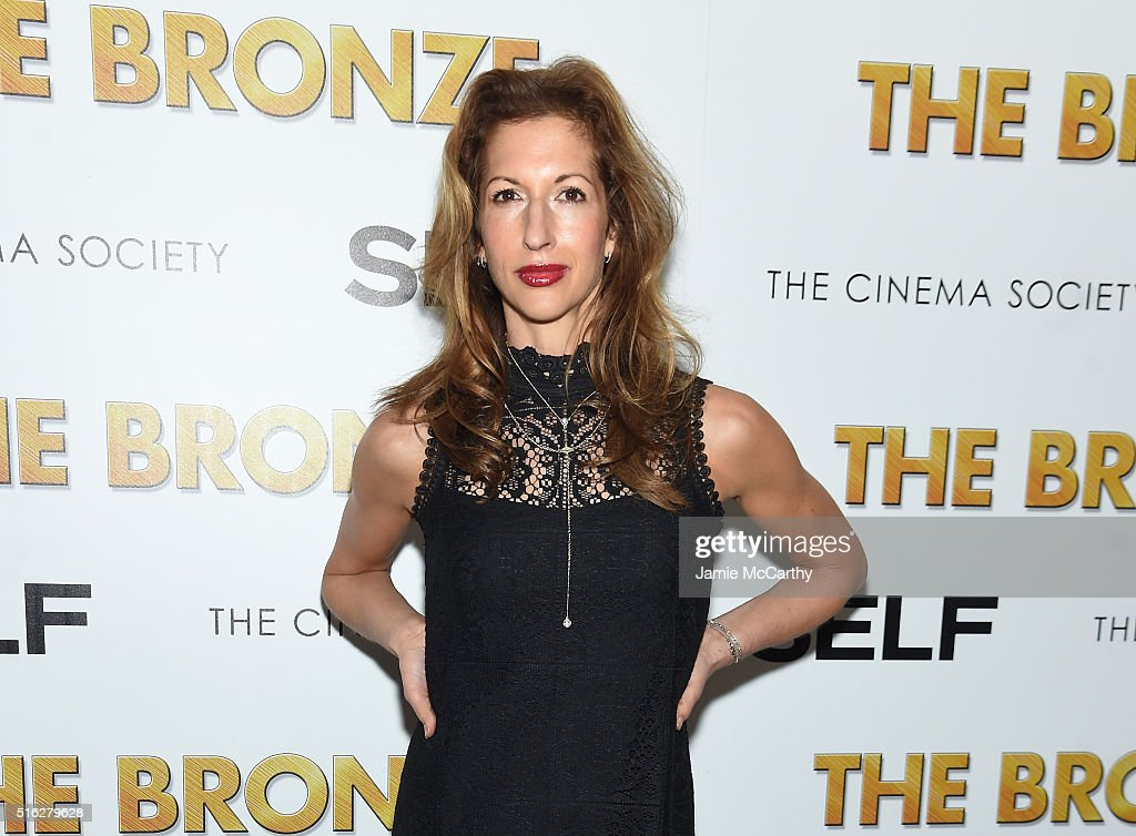 Actor Alysia Reiner attends a screening of Sony Pictures Classics' 'The Bronze' hosted by Cinema Society & SELF at Metrograph on March 17, 2016 in New York City.