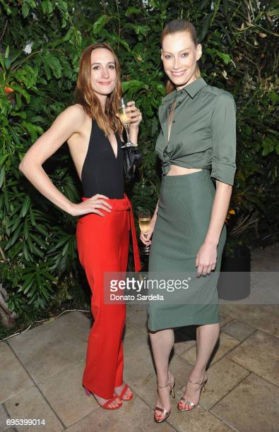 Actor Alyssa Sutherland wearing Max Mara and guest at Max Mara Celebrates Zoey Deutch The 2017 Women In Film Max Mara Face of the Future at Chateau...