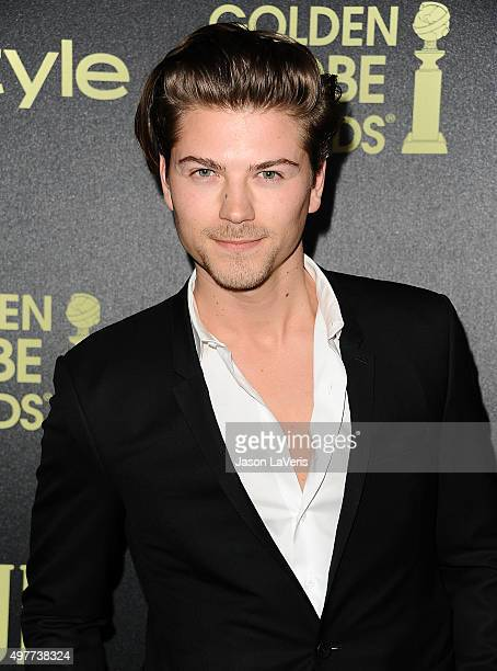 Actor Amadeus Serafini attends the Hollywood Foreign Press Association and InStyle's celebration of the 2016 Golden Globe award season at Ysabel on...