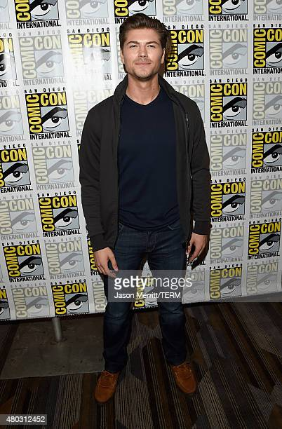 Actor Amadeus Serafini attends the Scream press room during ComicCon International 2015 at the Hilton Bayfront on July 10 2015 in San Diego California