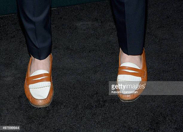 Actor Amadeus Serafini shoe detail attends Hollywood Foreign Press Association and InStyle Celebration of The 2016 Golden Globe Award Season at...