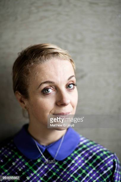 Actor Amanda Abbington is photographed for the Times on November 7 2014 in London England