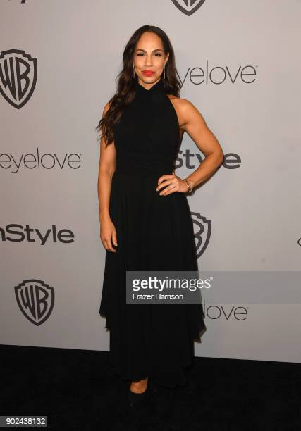 Actor Amanda Brugel attends 19th Annual PostGolden Globes Party hosted by Warner Bros Pictures and InStyle at The Beverly Hilton Hotel on January 7...