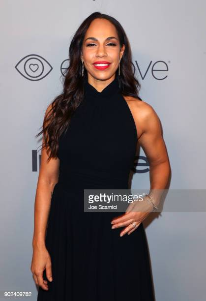 Actor Amanda Brugel attends the 2018 InStyle and Warner Bros 75th Annual Golden Globe Awards PostParty at The Beverly Hilton Hotel on January 7 2018...