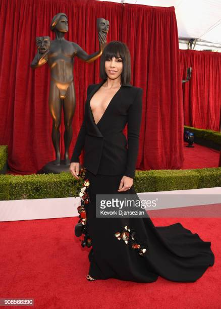 Actor Amanda Brugel attends the 24th Annual Screen Actors Guild Awards at The Shrine Auditorium on January 21 2018 in Los Angeles California
