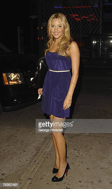 Actor Amanda Bynes attends The Drake Night Club for the 'Hairspray' After Party on July 9 2007 in Toronto Canada