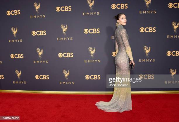 Actor Amanda Crew attends the 69th Annual Primetime Emmy Awards at Microsoft Theater on September 17 2017 in Los Angeles California