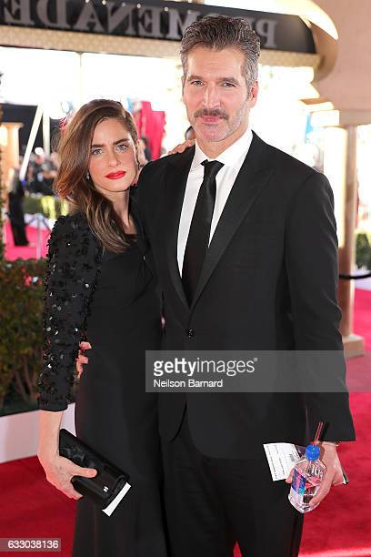 Actor Amanda Peet and producer David Benioff attend the 23rd Annual Screen Actors Guild Awards at The Shrine Expo Hall on January 29 2017 in Los...