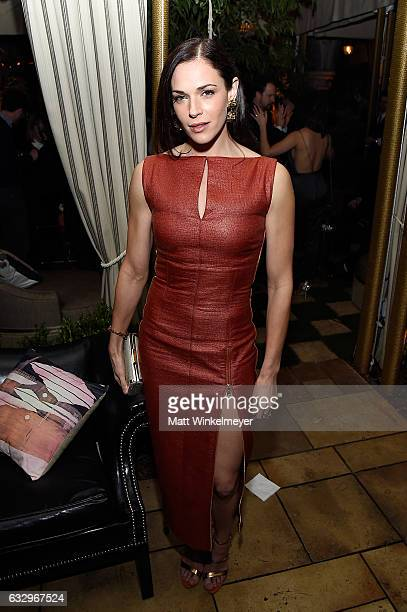 Actor Amanda Righetti attends the Entertainment Weekly Celebration of SAG Award Nominees sponsored by Maybelline New York at Chateau Marmont on...