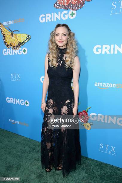 Actor Amanda Seyfried attends the world premiere of 'Gringo' from Amazon Studios and STX Films at Regal LA Live Stadium 14 on March 6 2018 in Los...