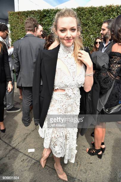 Actor Amanda Seyfried with FIJI Water during the 33rd Annual Film Independent Spirit Awards on March 3 2018 in Santa Monica California