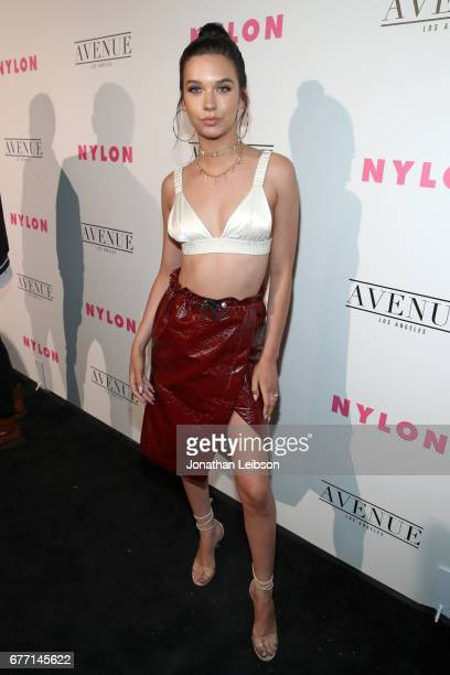 Actor Amanda Steele at the NYLON Young Hollywood Party at AVENUE Los Angeles on May 2 2017 in Los Angeles California