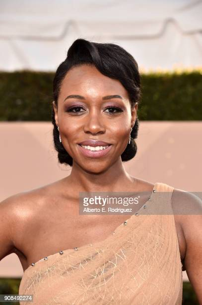 Actor Amanda Warren attends the 24th Annual Screen Actors Guild Awards at The Shrine Auditorium on January 21 2018 in Los Angeles California 27522_006