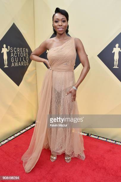 Actor Amanda Warren attends the 24th Annual Screen Actors Guild Awards at The Shrine Auditorium on January 21 2018 in Los Angeles California 27522_007