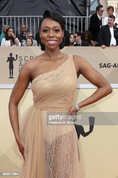 Actor Amanda Warren attends the 24th Annual Screen Actors Guild Awards at The Shrine Auditorium on January 21 2018 in Los Angeles California 27522_017