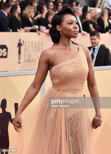 Actor Amanda Warren attends the 24th Annual Screen Actors Guild Awards at The Shrine Auditorium on January 21 2018 in Los Angeles California