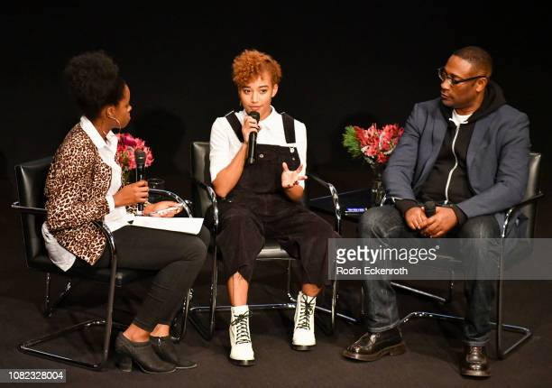 Actor Amandla Stenberg and Director George Tillman Jr speak at the MoMA Contenders 2018 Screening and QA of The Hate U Give at Hammer Museum on...