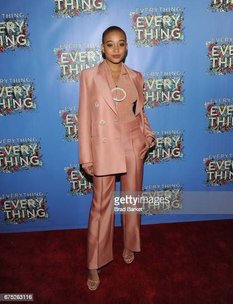 Actor Amandla Stenberg attends the 'Everything Everything' New York Screening at The Metrograph on April 30 2017 in New York City