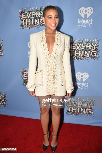 Actor Amandla Stenberg attends the premiere of Warner Bros Pictures' 'Everything Everything' at TCL Chinese Theatre on May 6 2017 in Hollywood...