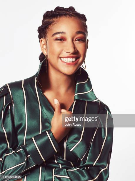 Actor Amandla Stenberg is photographed for 20th Century Fox on June 7 2018 in Los Angeles California