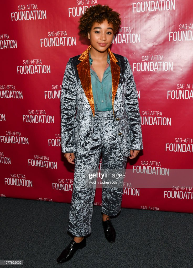 """SAG-AFTRA Foundation Conversations - Screening Of """"The Hate U Give"""" : News Photo"""