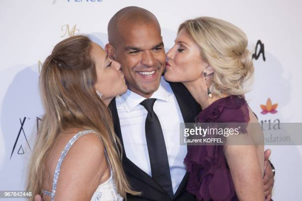 Actor Amaury Nolasco Hofit Golan and guest attend the 'Global Gift Gala' 2013 dinner and auction presented by Eva Longoria at Carlton Hotel on May 19...