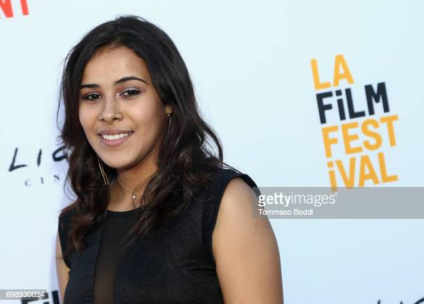 Actor Ambar Velazquez attends the screening of 'Don't Come Back From the Moon' during the 2017 Los Angeles Film Festival at Arclight Cinemas Culver...