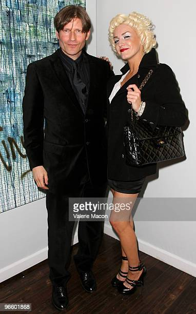 Actor Amber Crispin Glover attends The Tasya Van Ree Art Exhibit hosted by Amber Heard on February 11 2010 in Beverly Hills California