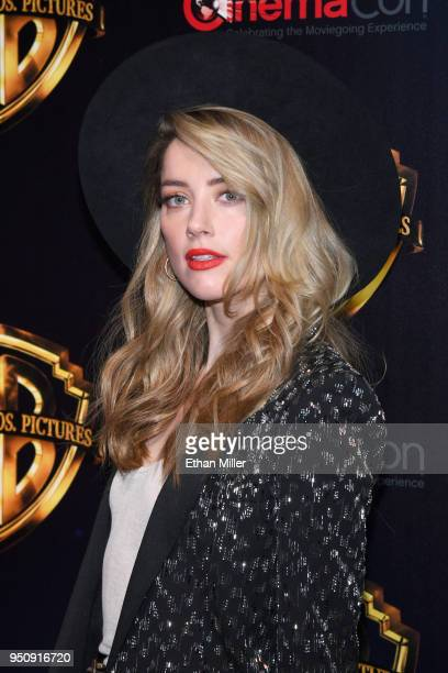 """Actor Amber Heard attends CinemaCon 2018 Warner Bros Pictures Invites You to """"The Big Picture"""" an Exclusive Presentation of our Upcoming Slate at The..."""