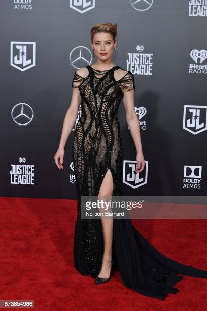 Actor Amber Heard attends the premiere of Warner Bros Pictures 'Justice League' at the Dolby Theatre on November 13 2017 in Hollywood California