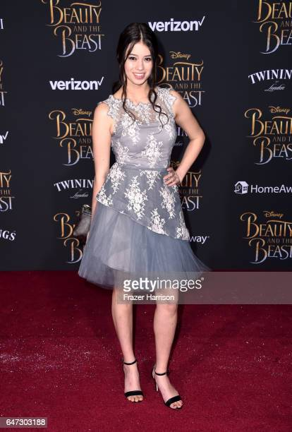 Actor Amber Midthunder attends Disney's Beauty and the Beast premiere at El Capitan Theatre on March 2 2017 in Los Angeles California