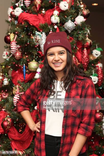 Actor Amber Romero attends the Holiday Tour of the Hollywood Museum at The Hollywood Museum on December 7 2017 in Hollywood California