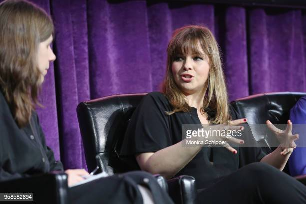 Actor Amber Tamblyn speaks onstage during the 'Full Frontal with Samantha Bee' FYC Event NY on May 14 2018 in New York City