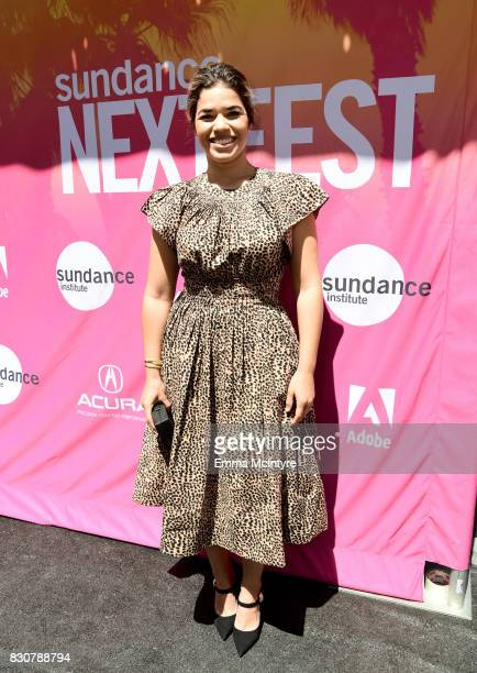 Actor America Ferrera attends 2017 Sundance NEXT FEST at The Theater at The Ace Hotel on August 12 2017 in Los Angeles California