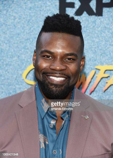 Actor Amin Joseph arrives at the premiere of FX's 'Snowfall' Season 2 at the Regal Cinemas LA LIVE Stadium 14 on July 16 2018 in Los Angeles...