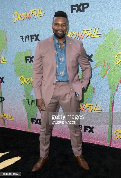 Actor Amin Joseph attends FX's 'Snowfall' Season 2 premiere on July 16 in Los Angeles