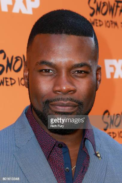 Actor Amin Joseph attends the premiere of FX's 'Snowfall' at The Theatre at Ace Hotel on June 26 2017 in Los Angeles California