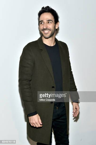 Actor Amir Arison arrives for the Prabal Gurung show during New York Fashion Week The Shows on February 12 2017 in New York City