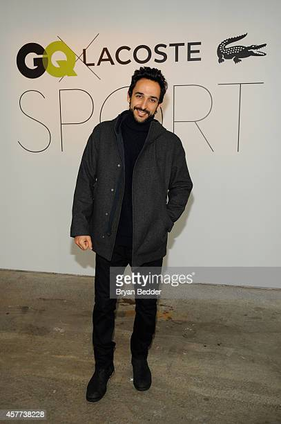 Actor Amir Arison attends GQ X Lacoste Celebrate Sport popup shop opening in NYC hosted by Paul Wesley on October 23 2014 in New York City