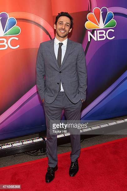 Actor Amir Arison attends the 2015 NBC Upfront Presentation red carpet event at Radio City Music Hall on May 11 2015 in New York City